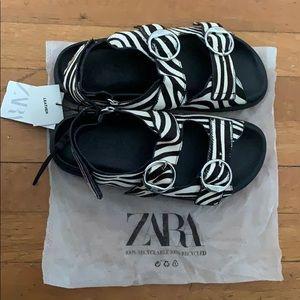 Zara Zebra print sandals